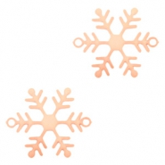 Bohemian connectors snowflake Rose Gold