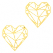 Bohemian connectors geometric heart Gold
