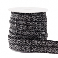 Elastic ribbon glitter Anthracite