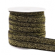 Elastic ribbon glitter Gold