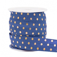 Elastic ribbon dots Dark Blue