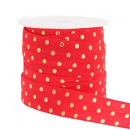 Elastic ribbon dots Red
