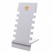 Jewellery display wood star Grey