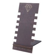 Jewellery display wood diamond Black