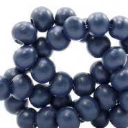 Wooden beads round 8 mm Dark Blue