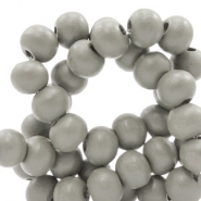 Wooden beads round 8 mm Mild Greige Taupe