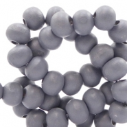 Wooden beads round 8 mm Urban Grey