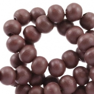 Wooden beads round 8 mm Port Brown