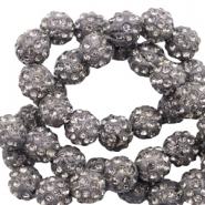 Rhinestone beads 8mm Anthracite
