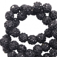 Rhinestone beads 10 mm Black