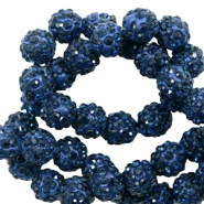 Rhinestone beads 8mm Dark Blue