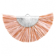 Tassels charm Silver-Light Brown White