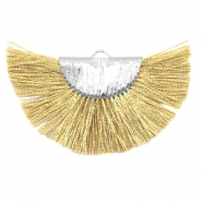 Tassels charm Silver-Yellow Gold