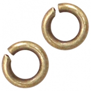 DQ European metal findings jump ring 3mm Antique Bronze (nickel free)