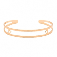 DQ European metal findings basic bracelet 9x60mm with two loops Rose Gold (nickel free)