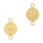 DQ European metal charms connector Jesus 10mm Gold (nickel free)