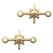 DQ European metal connector charms galaxy star Antique Bronze (nickel free)