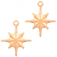 DQ European metal charms galaxy star Rose Gold (nickel free)