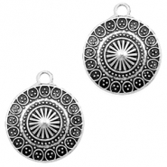 Metal charms coin 22mm Silver