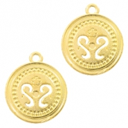 Metal charms coin 19mm Gold