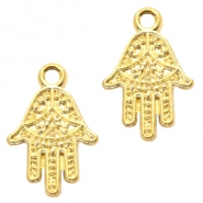 Metal charms Hamsa hand Gold