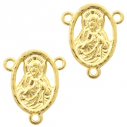Metal charms / connector Saint Gold