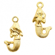 Metal charms mermaid Gold