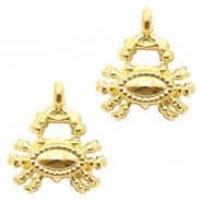 Metal charms crab Gold