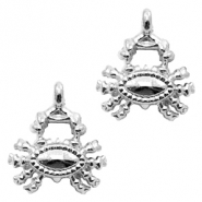 Metal charms crab Antique Silver