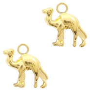Metal charms camel Gold