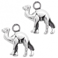 Metal charms camel Antique Silver