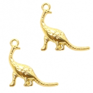 Metal charms dino Gold