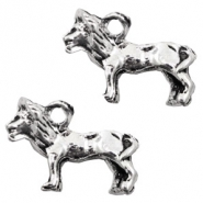 Metal charms lion Antique Silver