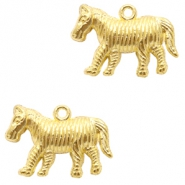 Metal charms zebra Gold