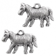 Metal charms zebra Antique Silver