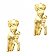 Metal charms deer Gold