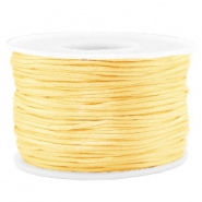 Macramé bead cord 1.5mm satin Cream Yellow