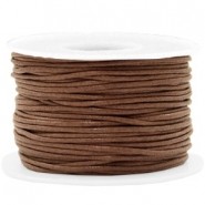 Waxed cord 1.5mm Chocolate Brown