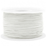 Waxed cord 1mm White