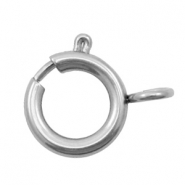 Stainless Steel findings clasp 13x10mm Silver