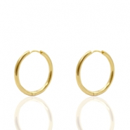 Stainless Steel earrings creole 16mm Gold