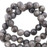 6 mm natural stone beads Dark Anthracite