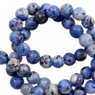 8 mm natural stone beads Dark blue