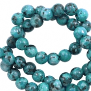 8 mm natural stone beads Ocean Green