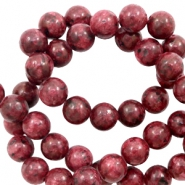 8 mm natural stone beads Warm Red