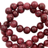 6 mm natural stone beads Dark Warm Red
