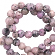 6 mm natural stone beads Vintage Pink