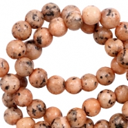 6 mm natural stone beads Ginger-Brown