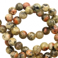 6 mm natural stone beads Warm Earth Yellow