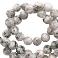 6 mm natural stone beads White-Black Mixed